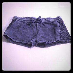 Mossimo detailed blue tie dye shorts cotton
